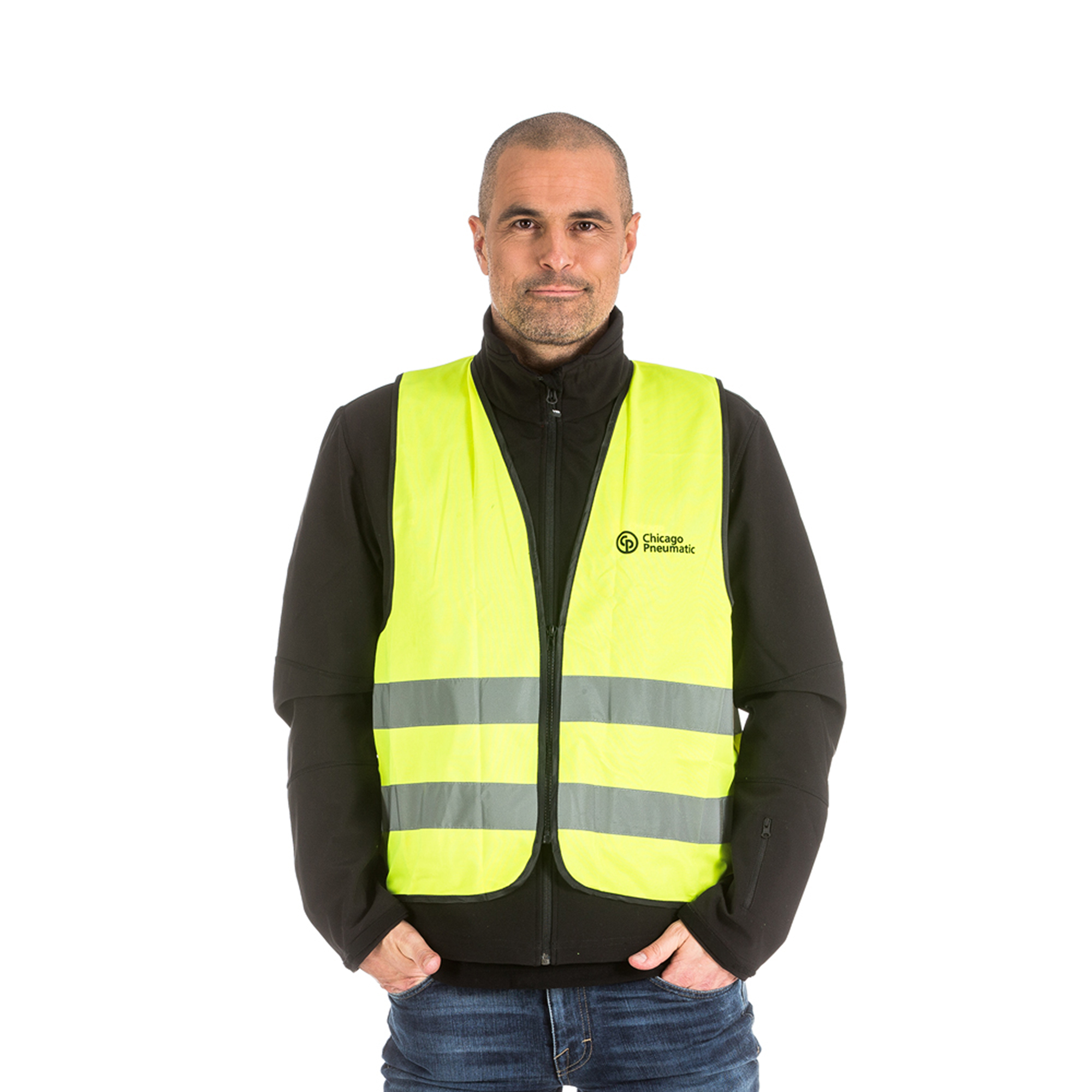 High quality safety vest with zipper. Certified following EN 471 standard, in line with CE label.