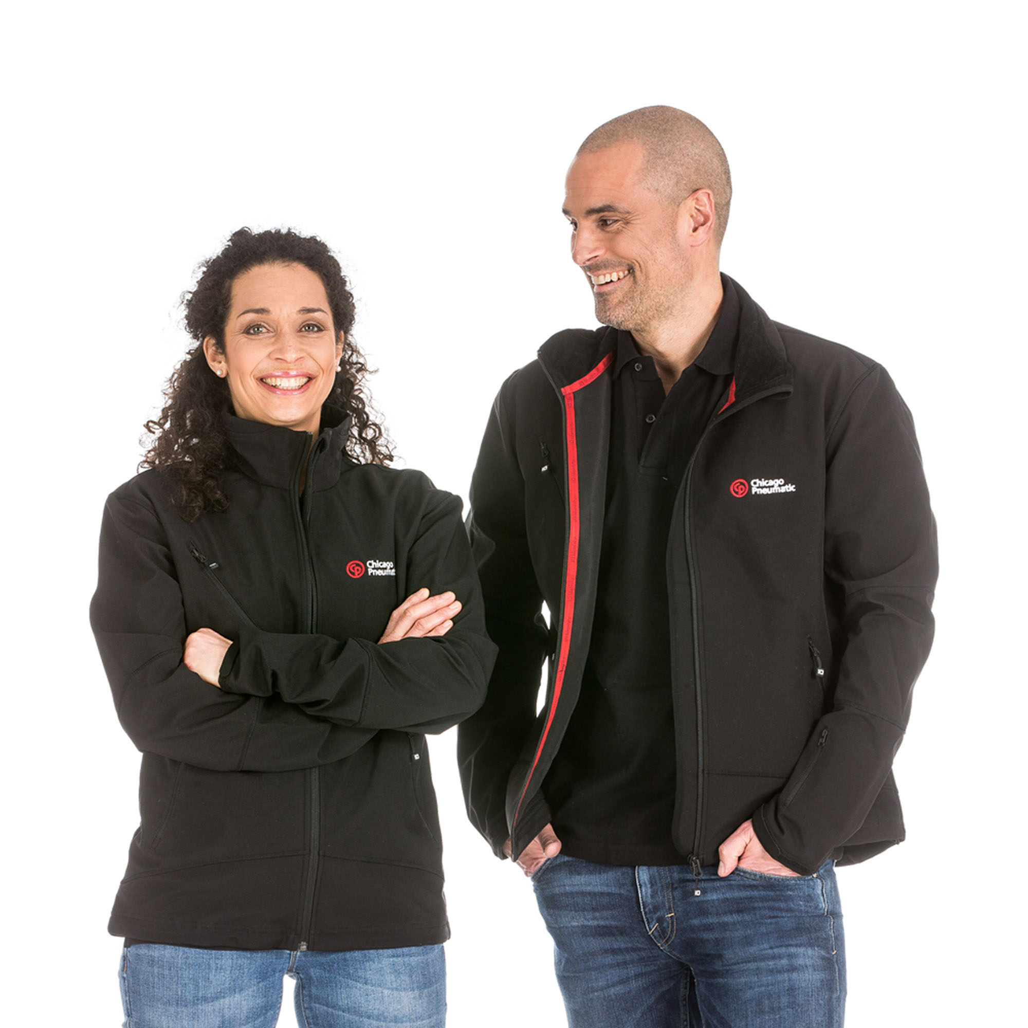 A sporty and practical jacket in black color. Three layer ID-Tech soft shell-quality. Wind and water repellent.