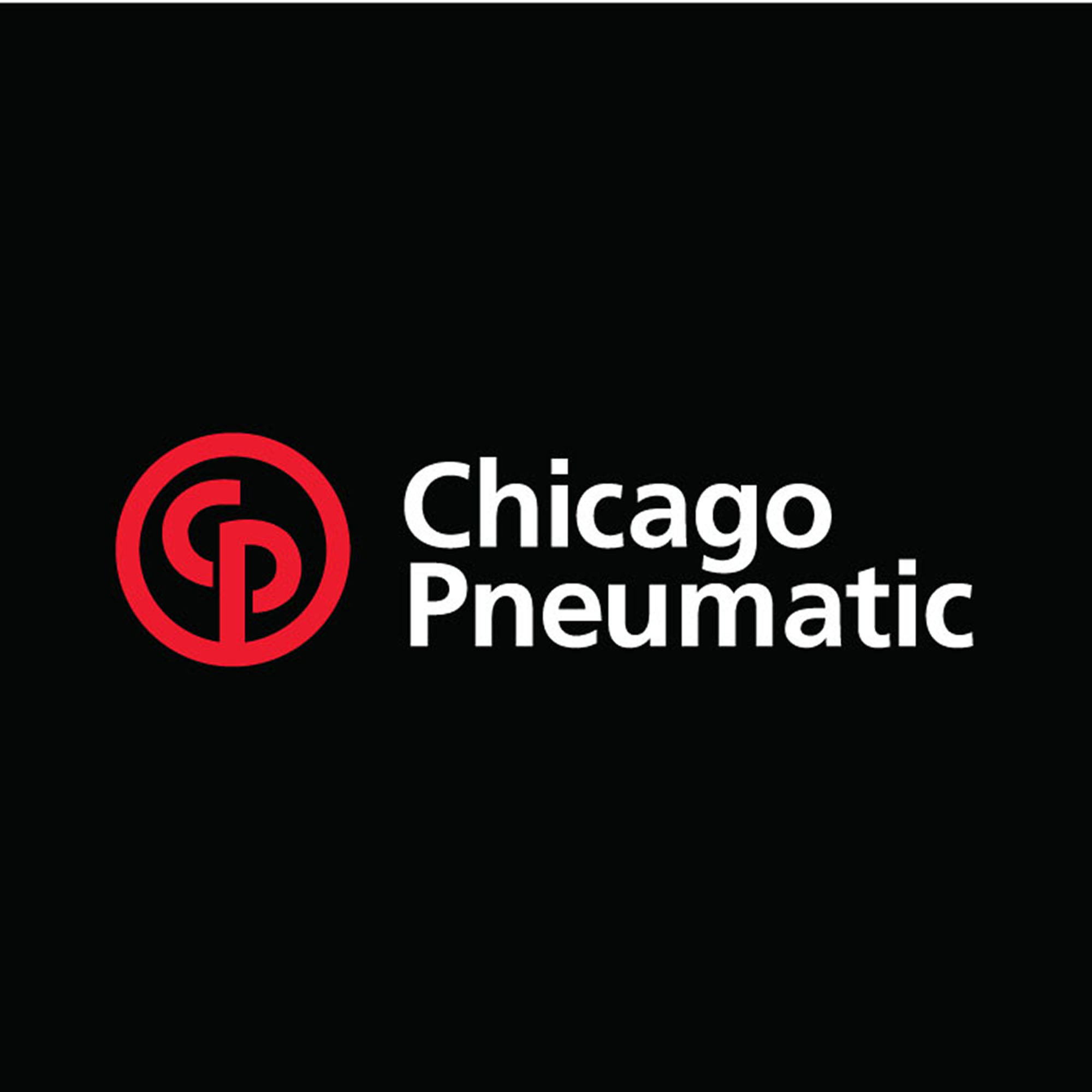 Laser cut Chicago Pneumatic decal in white and red color. Often used when branding cars, front desks and other areas where your logo shall be seen.