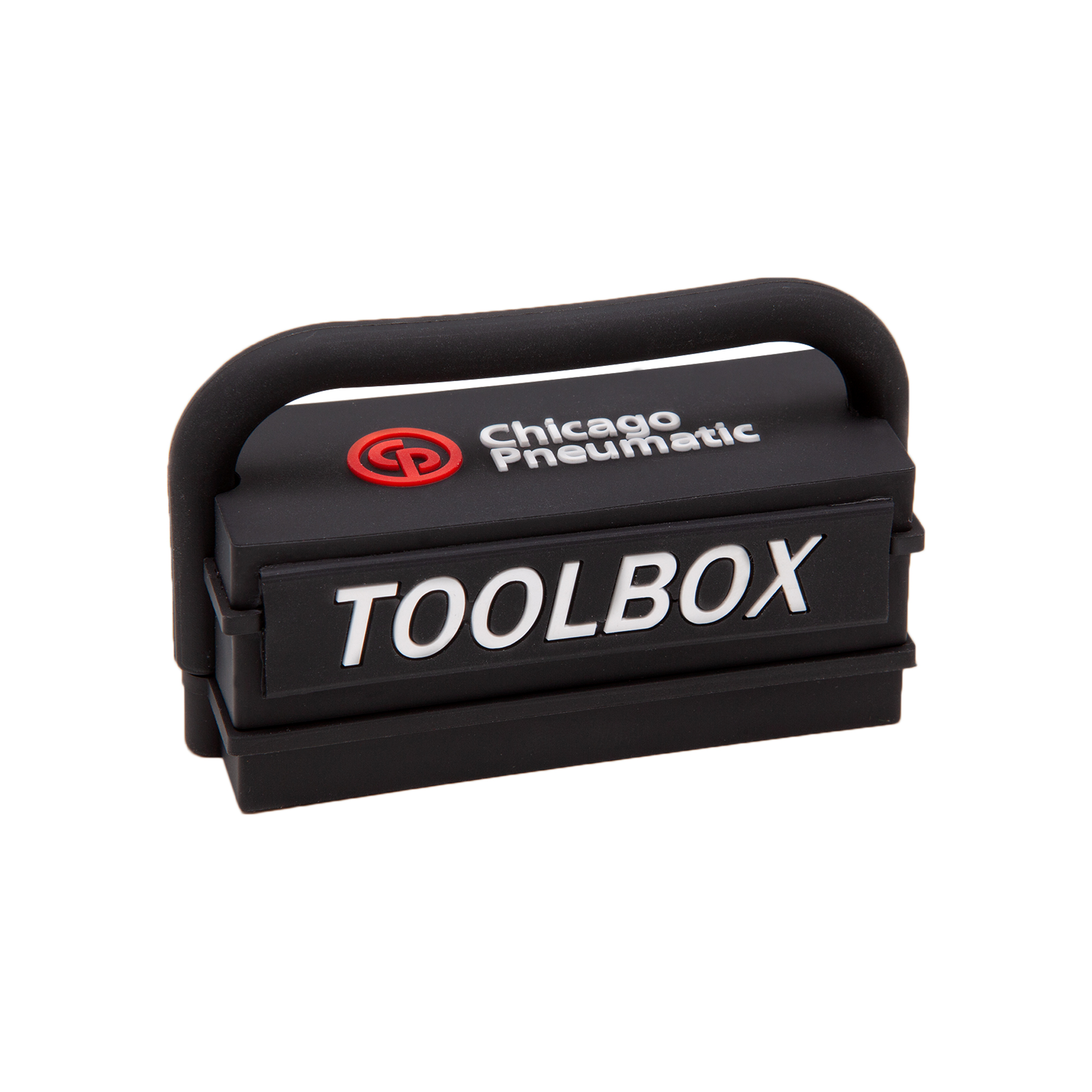Likeable mini toolbox, contains six bits and a bits holder/extender.